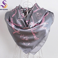 Autumn Winter Dark Pink Blue Women Scarves Shawl New Design Ladies Accessories Chain Square Scarves 90-90cm Muslim Headscarves