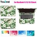 Окрашенные Наклейки Ноутбук Для MacBook Air 11 13 Pro 13 15 Retina 12 13 15 дюймов Кожного Покрова Наклейка Защитная Наклейка Для Ноутбука