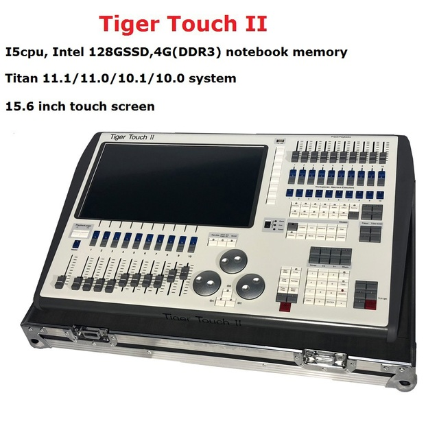 2019 Newest Tiger Touch II 11.1/11.0/10.1 System Controller Professional Outdoor Lighting Console With 6144 DMX Channels
