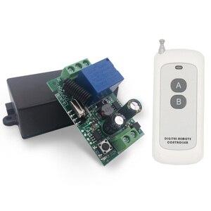 Image 5 - 433 Mhz שלט רחוק מתג 110 V 220 V 250 V 1CH rf ממסר מקלט ומשדר עבור הנורה/ LED/אור/דלת DIY אלחוטי פותחן