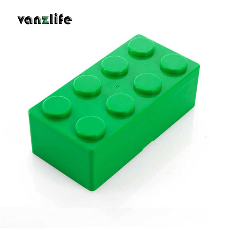 Vanzlife bloques de construcción creativos superpuestos cajas de almacenamiento de escritorio, caja de cosméticos para mujeres, caja de papelería de oficina