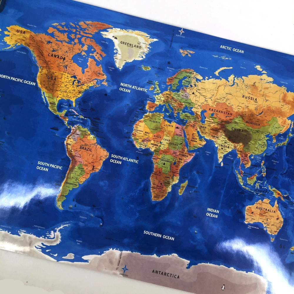 Drop shipping scrape the world map national flag map for home decor drop shipping scrape the world map national flag map for home decor wall art craft vintage poster r travel and living room in wall stickers from home gumiabroncs Images