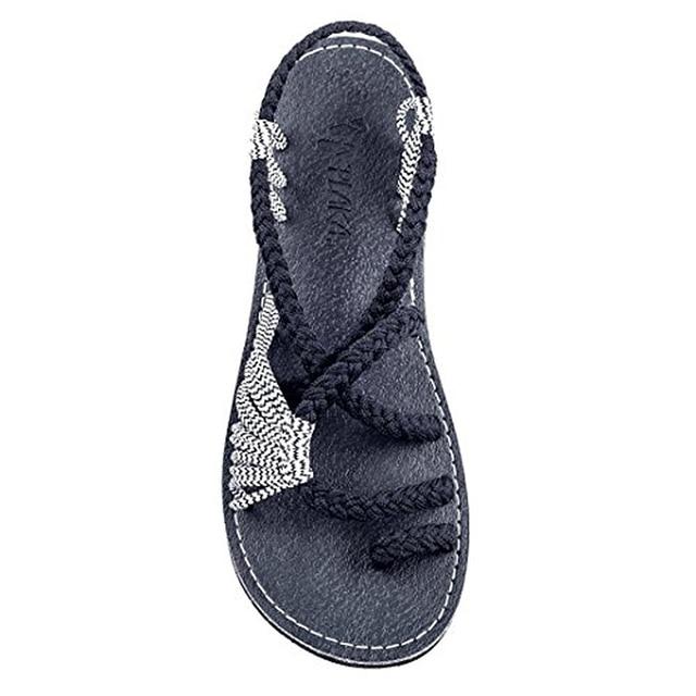f004c0931b103b Bomlight Denim Sandals For Women Summer Bohemia Shoes Slippers Female Twist Flat  Sandals Shoes Shales Beach Sandals Flip Flops