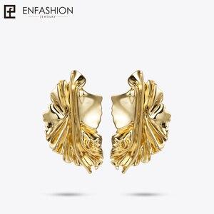 Image 4 - Enfashion Goud Laat Oorbellen Voor Vrouwen Goud Kleur Leaf Drop Oorbellen Oorbellen For A Vrouwen Oorbellen Mode sieraden EC181044