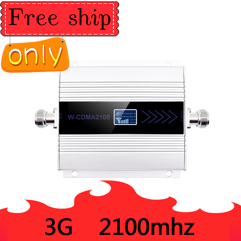 HOT  SALE Gain 60dB 3G Ripetitore 2100MHz Repeater LCD WCDMA 2100 MHZ Mobile Signal Booster Amplifier Cell Phone Amplifier