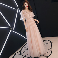 A-line Evening Dresses Full Appliques Sexy Floor-length Formal Prom Dress Women Elegant Pink V-Neck Lace Up Long Party Gown E086 цены