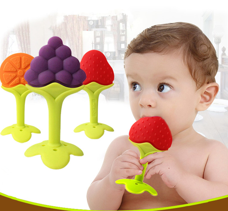 Toys For 0 12 Months : Months baby toys silicone fruit shape infant teether