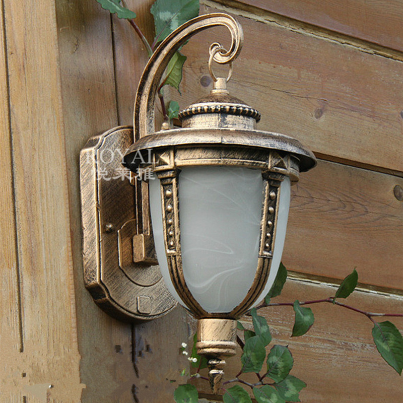 85 265v European Antique Outdoor Wall Light Waterproof Antique Bronze Fixtures Corridor Balcony Decoration Lamps