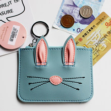 eTya Brand Women Girl Teenagers Cute Cartoon Cat Coin Purses Holders Leather Clutch Wallet Female Key Pouch Credit Card Wallets(China)