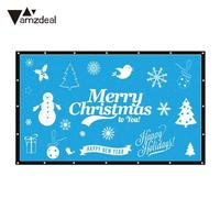 Projection Screen Weddings 16:9 Projector Screen Portable Conference Prohector Curtain Cinema