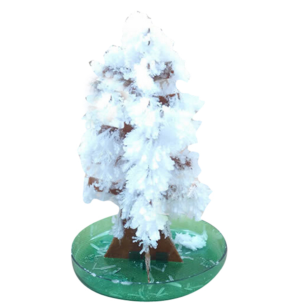 2019 10x6cm White Magic Growing Paper Tree Mystically Christmas Trees Japan Educative Kids Science Toys For Children Novelties