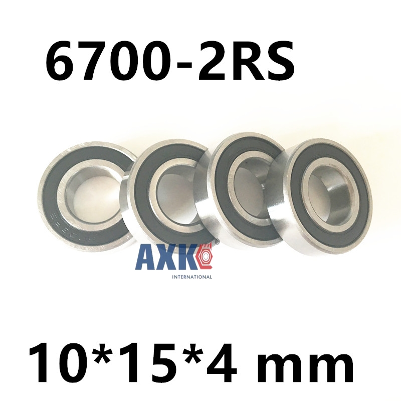 10pcs free shipping High quality double rubber sealing cover miniature deep groove ball bearing 6700-2RS 10*15*4 mm free shipping 10pcs textile machine embroidery machine parts bearing non standard piece bearing b6003 2rs 15 17 35 10 19
