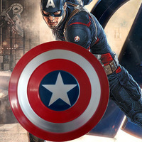 18'' Captain America Shield 1:1 Metal Industry Wind Wall Metal Handheld Props Bar Shop Wall Decoration Model Toy