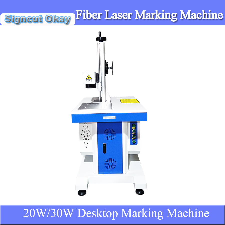 Cheap  Desktop Fiber Laser Metal Marking Machine 20W30W Laser Engraving Machine For Stainless Steel Aluminum Engraver