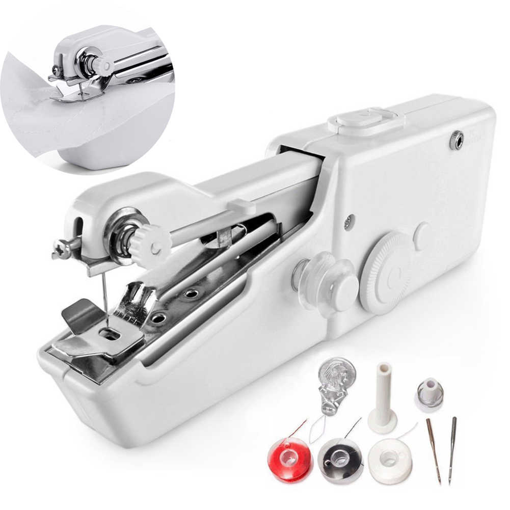 1pcs Portable Sewing Machine Mini Cordless Electric Stitch Tool Handheld Sewing Machines Machine For Kids Cloth Home Travel Use