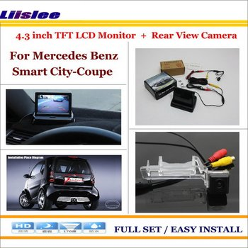 """For Mercedes Benz Smart City-Coupe Car 4.3"""" Color LCD Monitor Screen & Back UP Reverse Camera 2 in 1 Rearview Parking System"""