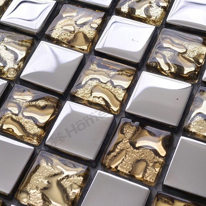 ᐊEnvío Expreso libre! oro y plata mosaico de vidrio 6mm espesor ...