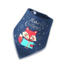 цена Christmas Baby Bibs Boy Girl Bandana Bib Burp Cloth Print Animal Triangle Cotton Baby Scarf Meal Collar Burp Baby Accessories онлайн в 2017 году