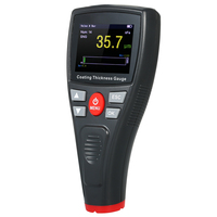 Mini Digital Automotive Thickness Gauge Coating Meter Car Paint Tester with Color LCD Fe Probe Car Detector