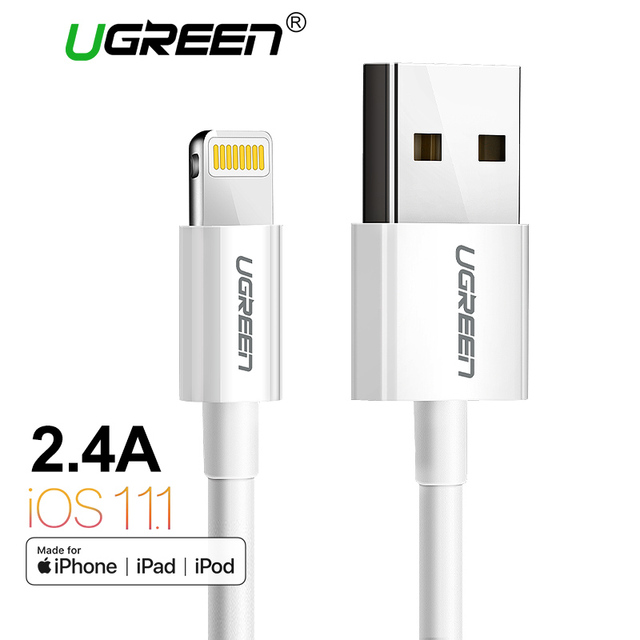 Ugreen MFi Lightning to USB Cable for iPhone X 7 6 5 6s Plus Fast Charging USB Data Cable for iPhone 5s 5C SE Mobile Phone Cable