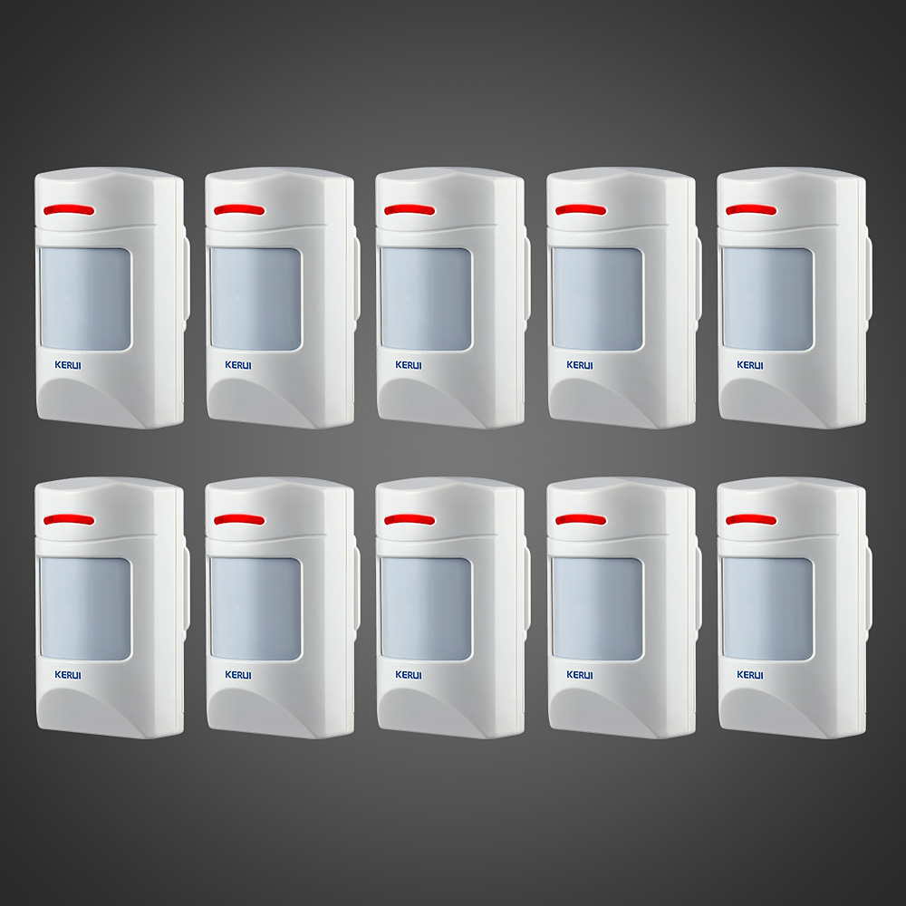10PCS Wireless 433Mhz Pet Immune Motion PIR Detector For Security Home GSM Alarm System Security anti