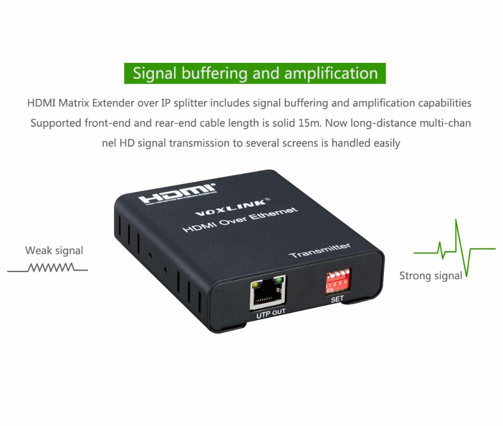 VOXLINK 120 M HDMI Extender Over UTP Cat 5e/6 Ethernet Kabel 1080 P ...
