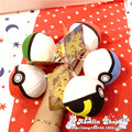 5pcs/set 10cm Pokeball Master Ball Plush Toy Keychain  Poke Ball Soft Doll Chain Stuffed Keyrings Kids Babe Ball Pikachu