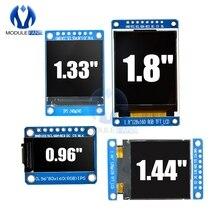 0.96 1.3 1.44 1.8 אינץ סידורי 128*128 128*160 80*160 240*240 65K SPI מלא צבע TFT IPS LCD תצוגת מודול לוח להחליף OLED