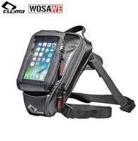 CUCYMA Motorcycle Tank Bag Multifunction Motorbike Drop Leg Bags Touch Screen Mobile Phone Bag for GPS navigation Travel Pack