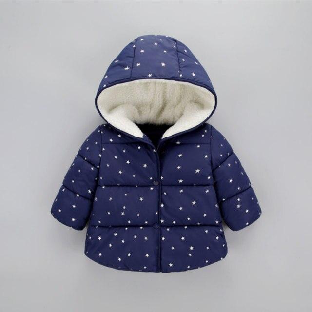 Invierno Bebé niñas niños ropa conjuntos con capucha gruesa chaqueta de abrigo  para niños niñas niños 083b001e0b80