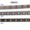 1 m/3 m/5 m dc12v ws2815 pixel led luz de tira, endereçável duplo-sinal inteligente, 30/60/144 pixels/leds/m pwb preto/branco, ip30/ip65/ip67