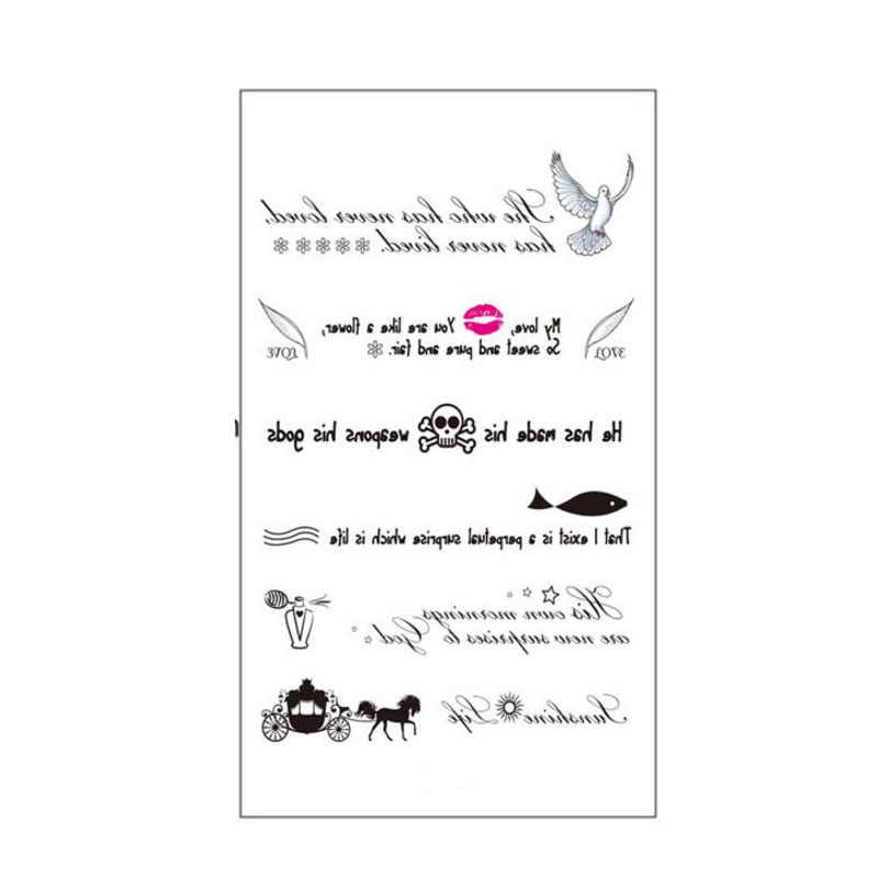 Addfavor 5 قطع نقل الرسائل حمامة الشفاه الجمجمة السمك أداة المقرب فن الوشم المؤقت للماء الجسم الوشم ملصقات وهمية