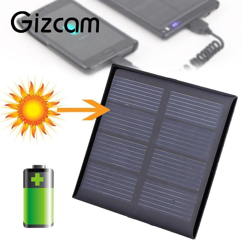 Flexible 0.42W 3V 140MA Polycrystalline Solar Panel Portable DIY Sunpower Solar Power Cell Charger Module 6.5*6.5*0.3cm