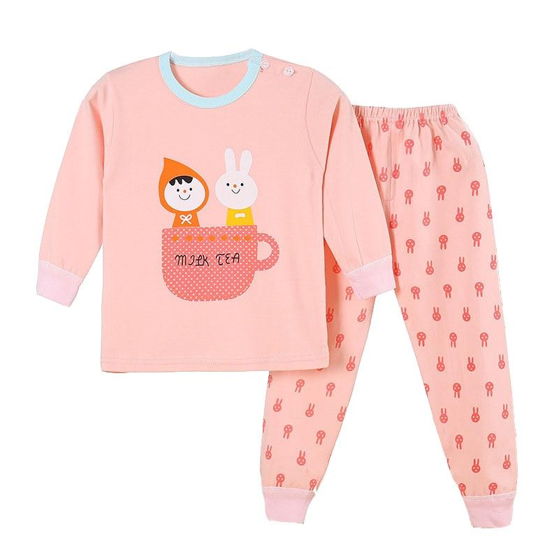 66dac73a5 Pajamas For Baby Girl Boy Long Sleeve Winter Sleeper Cotton Tops + ...