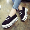 Spring Casual Female Thick Crust Muffin Bottom Lazy Korean Shoes Increased Women Sneakers Tide Lady Canvas Shoes