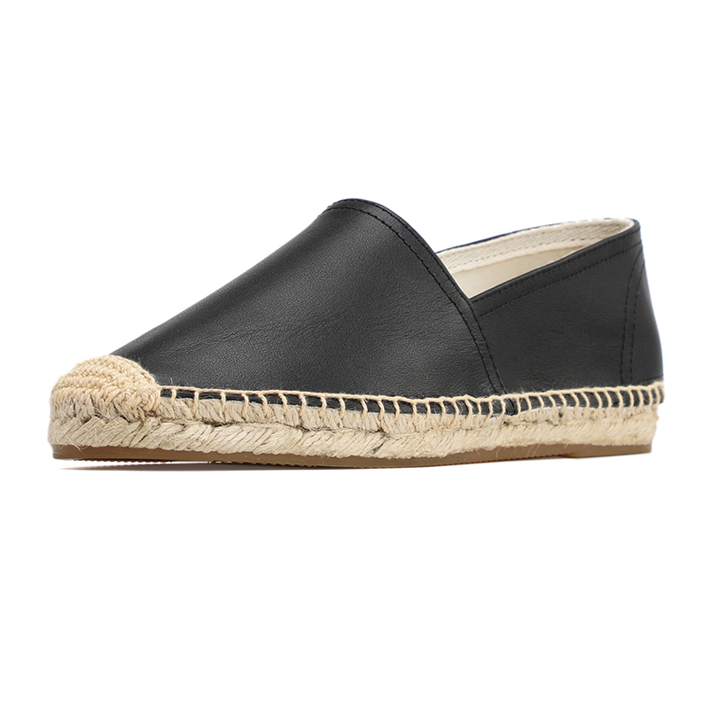 DZYM new spring summer  Genuine leather  Women fashion Flat espadrilles Lady Slip on casual flat shoes-in Women's Flats from Shoes    3