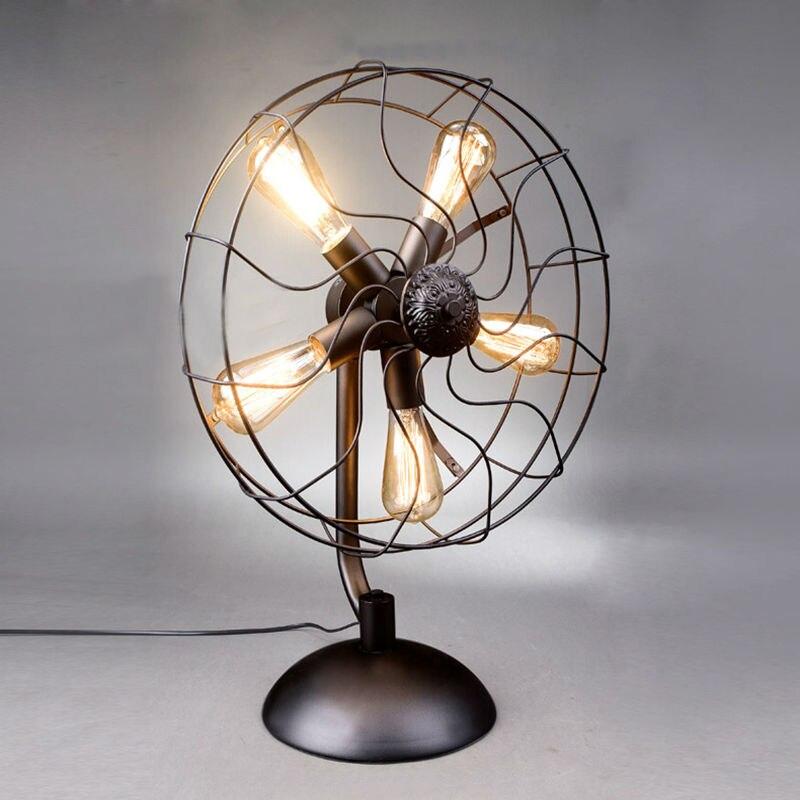 Iron Fan Table Lamps 13