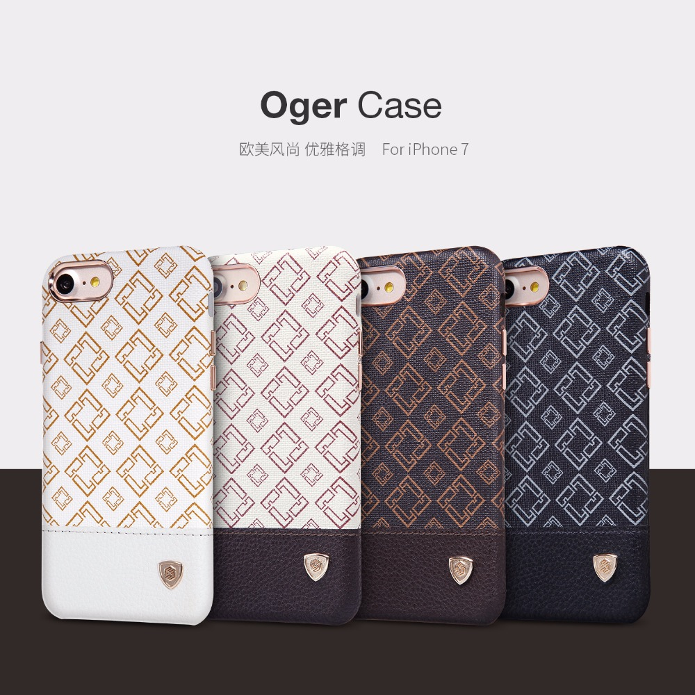 case for iphone 7 & 7plus NILLKIN Oger PU leather back cover hidden iron sheet luxury case for Apple iphone 7/7 plus
