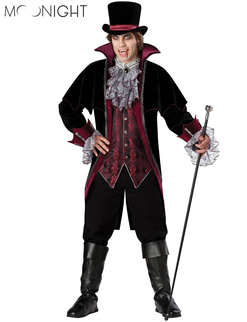 MOONIGHT Halloween Cosplay Man  Costume Party Clothing For Adult Man Knitted Costume Set