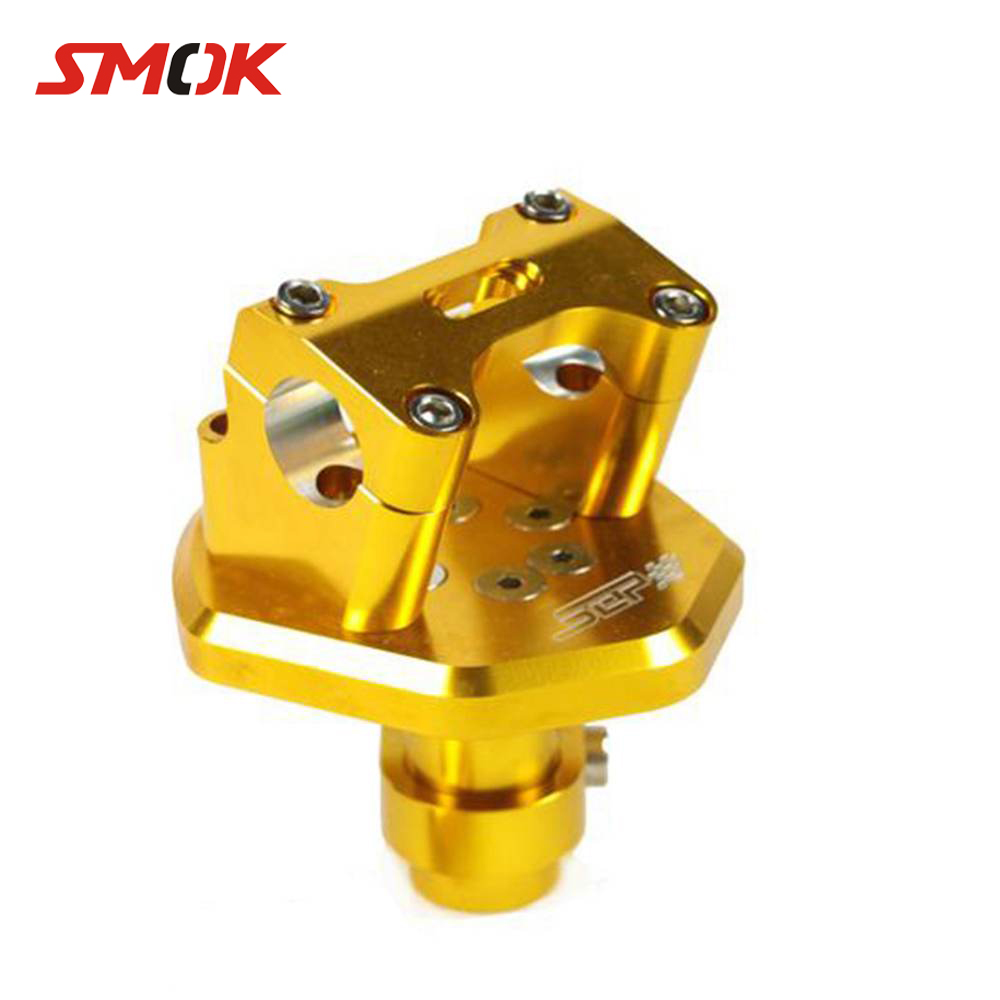 SMOK Motorcycle Scooter Accessories CNC Aluminum Alloy 22mm Handlebar Clamps Raised Handle Bar Risers For Yamaha BWS X 125 kemimoto motorcycle bar clamps raised handlebar handle bar risers for 22mm 7 8 28mm 1 1 8 for yamaha r1 r3 r6 for suzuki gsxr