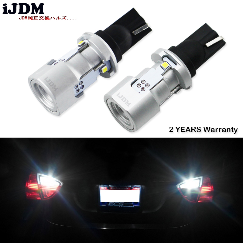 iJDM CAN-bus Error Free W16W LED 912 921 T15 LED Bulbs For Cars Audi BMW Mercedes Porsche Volkswagen For Backup Reverse Lights 2pcs brand new high quality superb error free 5050 smd 360 degrees led backup reverse light bulbs t15 for skoda rapid page 1
