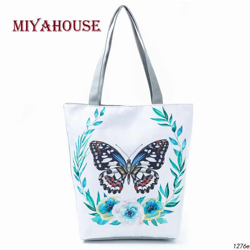 720d43809b89 С принтом бабочки повседневное Tote Большой ёмкость Женский сумки одного  плеча хозяйственные ежедневно применение для женщин