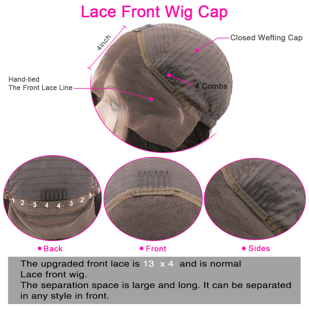 Loose Wave 13x4 Lace Front Wig 150% Pre-Plucked With Baby Hair For Women Natural Hairline Glueless Peruvian Remy Hair Eseewigs