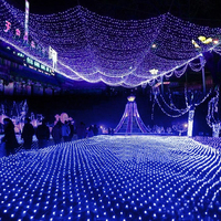 Led Net Lights Large Outdoor Christmas Decorations Garden Mesh Fairy Light Christmas Outdoor Waterproof AC 220V
