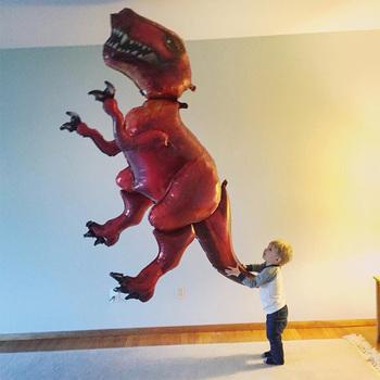 Dinozaur Party balon foliowy helem Globos jurajski świat zwierząt balon dinozaur zaopatrzenie firm dla dzieci prezent urodzinowy tanie i dobre opinie MV102 Dom ruchome Płeć Reveal Ślub Chrzest chrzciny Powrót do szkoły THANKSGIVING Birthday party Graduation CHRISTMAS