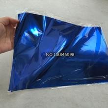50 шт. 20x29 см A4 синий цвет горячего тиснения фольги бумаги для жесткой коробки и пластикового материала