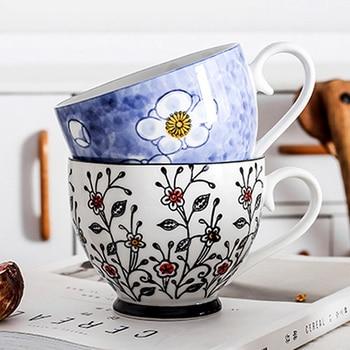 Large ceramic flower cup
