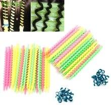 26 шт длинные пластиковые для стилистов салонный инструмент Парикмахерская спиральная завивка волос Плойка для завивки#330