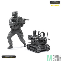 High Quality Miniature 1/35 US Navy Seal Commando Soldiers And Fighting Robots Individual Soldier Resin Model Figure Kit LOO 21