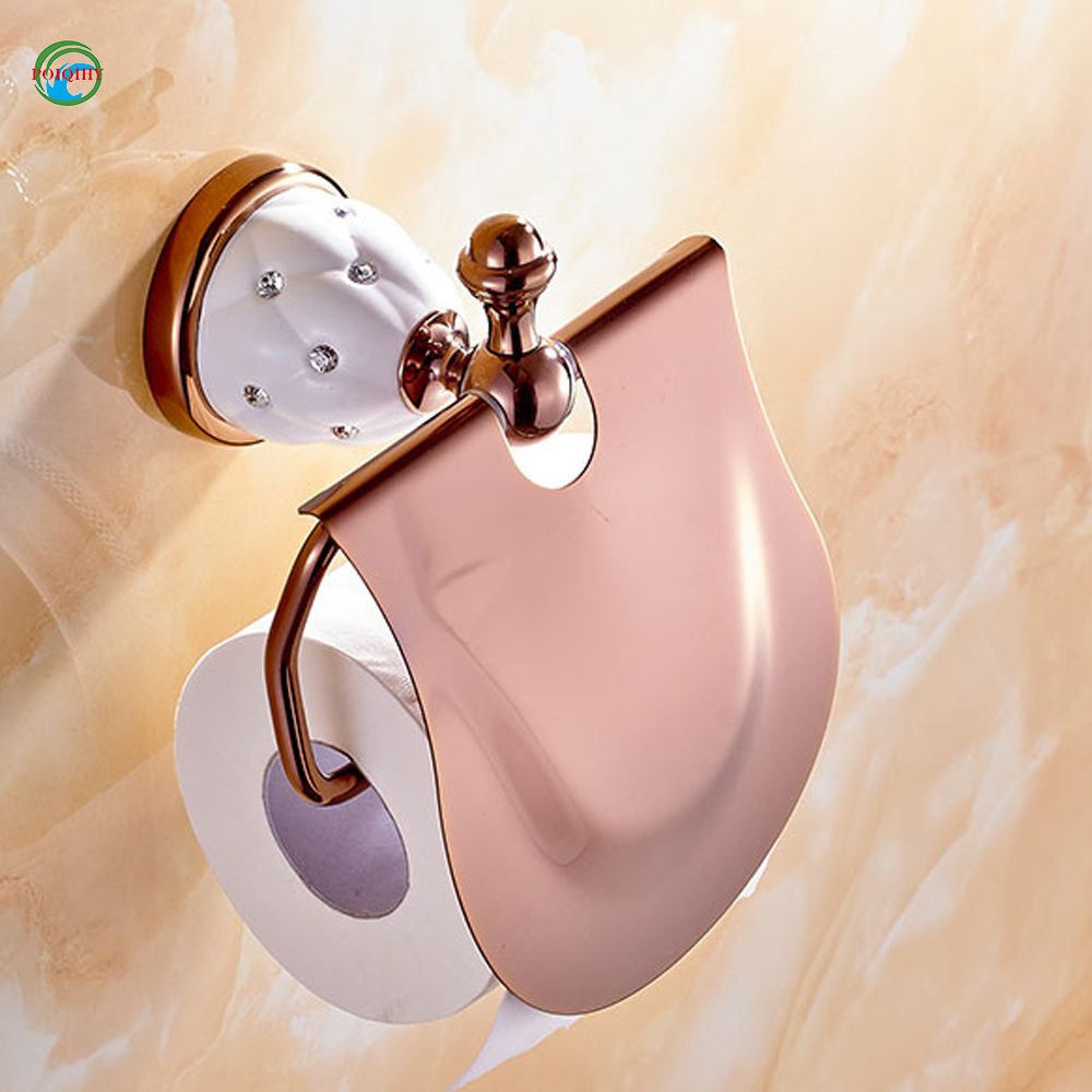 Gold Toilet Paper Holder with diamond,Roll Holder,Tissue Holder,Solid Brass -Bathroom Accessories Products toilet paper holder roll holder tissue holder bathroom accessories products